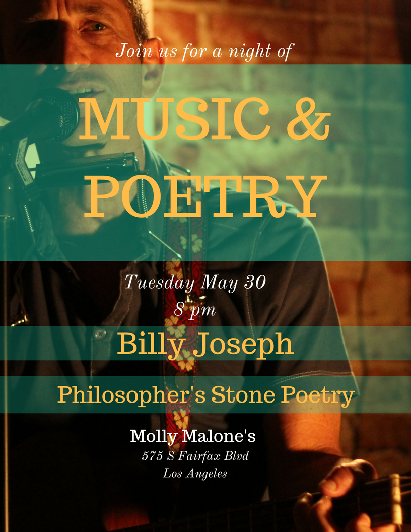 Live Music & Poetry with Billy Joseph & Philosopher's Stone Poetry | Last show! | Nisi Poesy