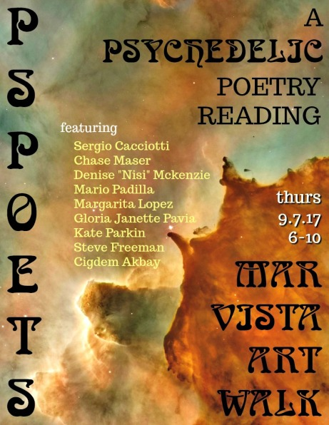 A Psychedelic Poetry Reading at the Mar Vista Art Walk hosted by Philosopher's Stone Poetry | pspoets | Mar Vista, Los Angeles, California